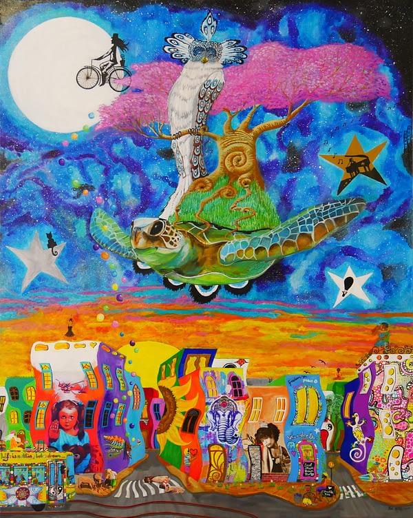 original painting, the neverending journey by Zoé Keleti