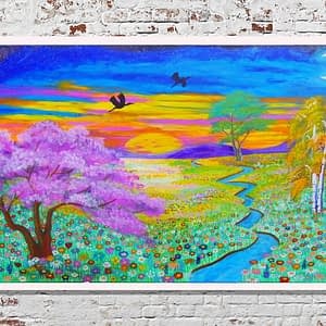 paradise within art print Zoé Keleti dreamy landscape