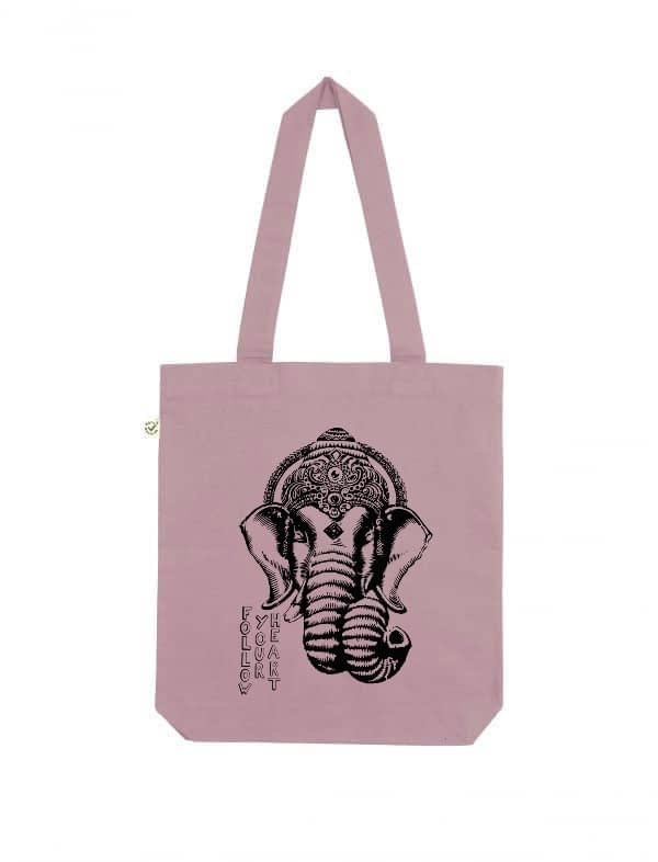 Follow your heart organic cotton tote bag