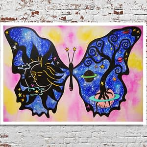 buddhafly butterfly painting by zoé keleti