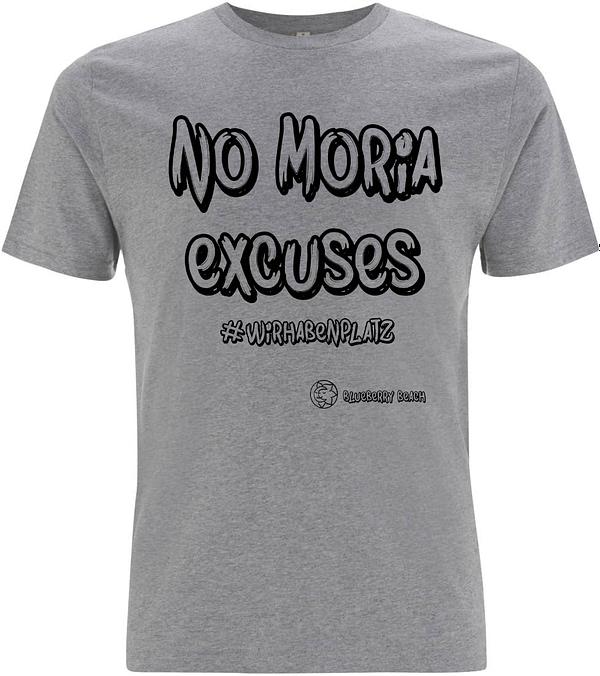 Grey men organic no Moria excuses t-shirt