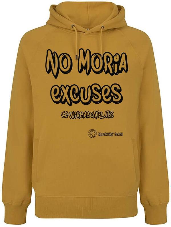 No Moria excuses mango hoodie