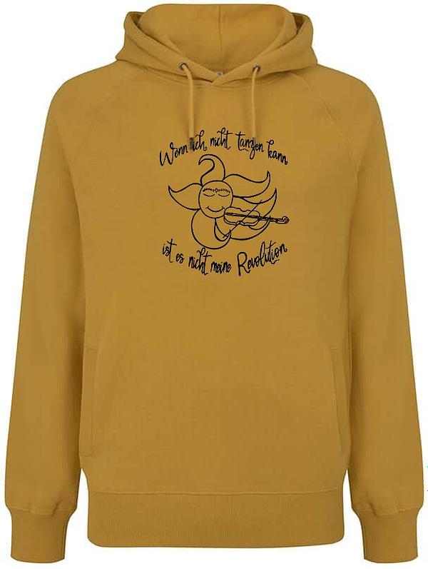 Mango yellow organic hoodie sun violin