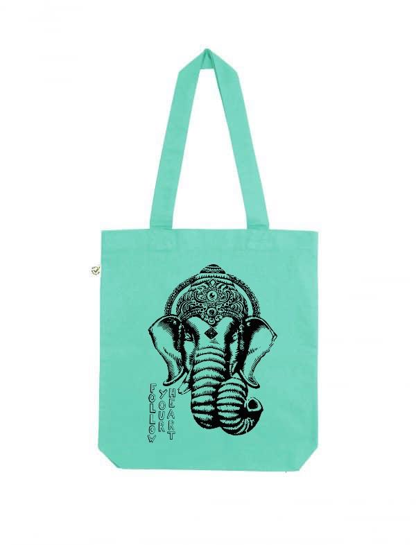 Ganesha follow your heart tote bag