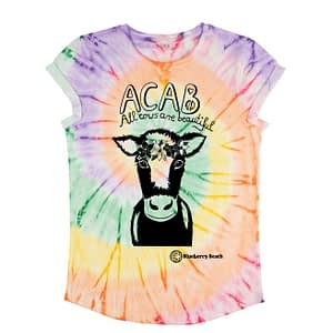 Acab all cows are beautiful tie dye t-shirt organic