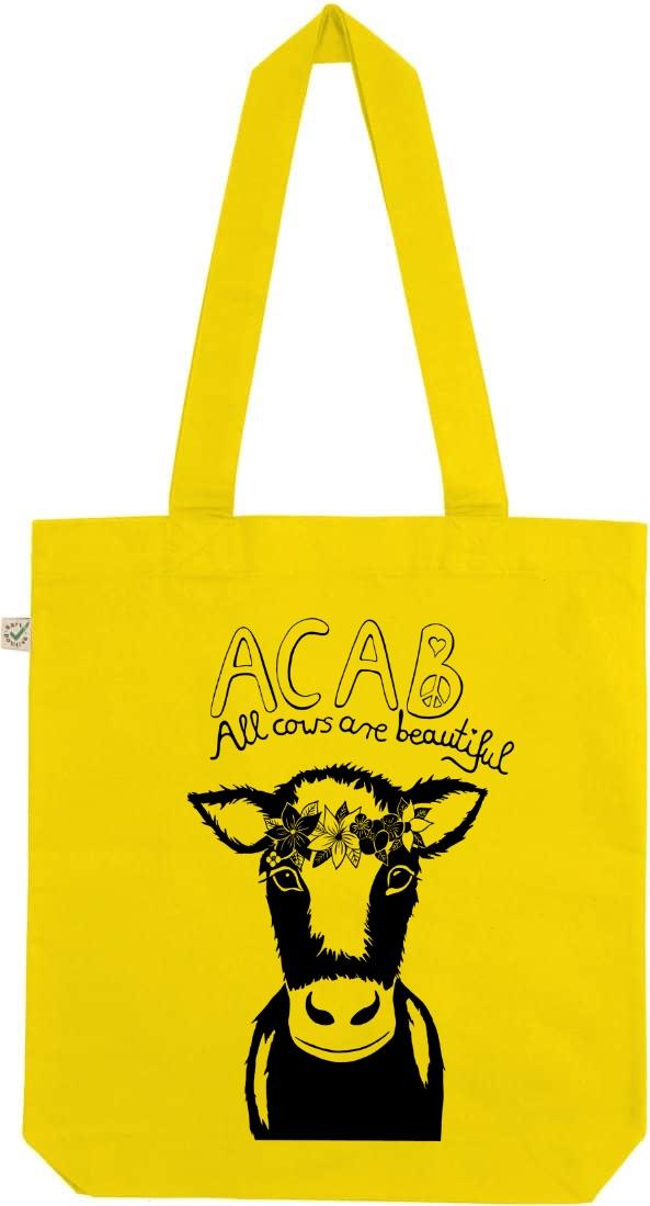 Acab all cows are beautiful lemon tote bag