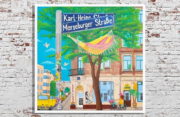 holiday at home art print liepzig karl heine merseburger strasse painting art