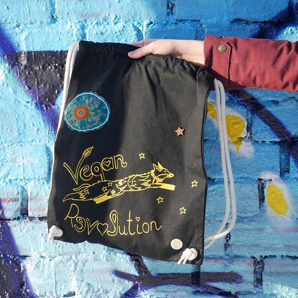 vegan revolution bio baumwolle gym sack