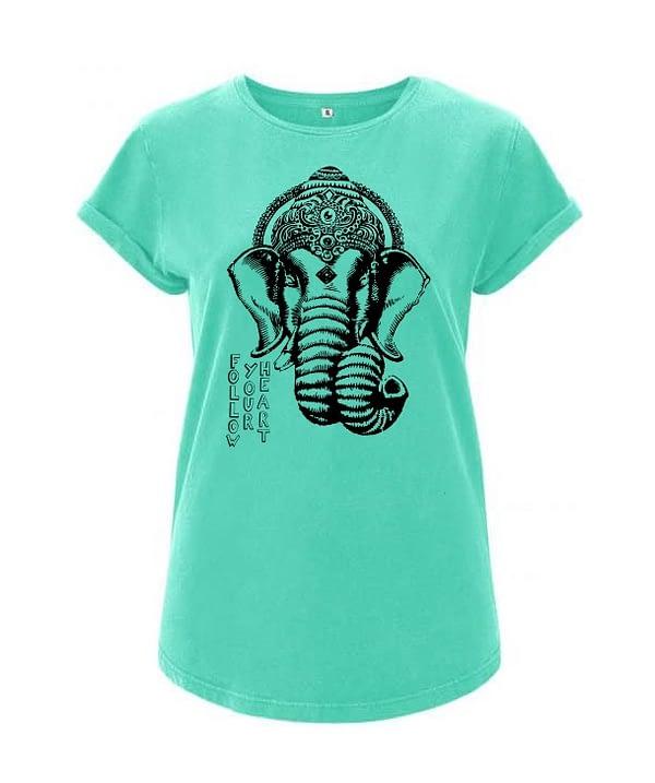 Bio cotton women t-Shirt Ganesha