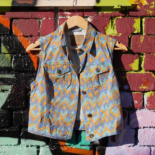 upcycled vintage vest front