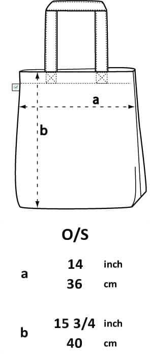 Measurement tote bag