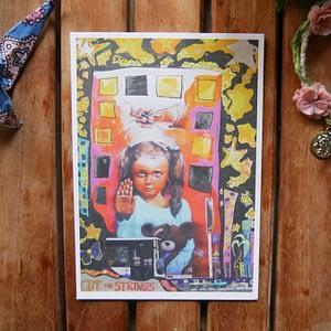 cut the strings postcard by joshua parksteinhoff
