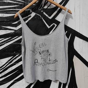 vegan revolution grey top