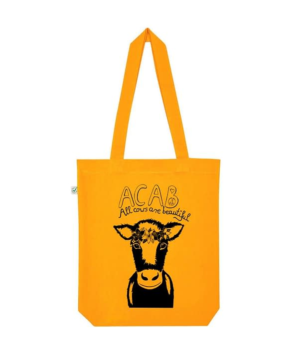 Acab all cows are beautiful tote bag