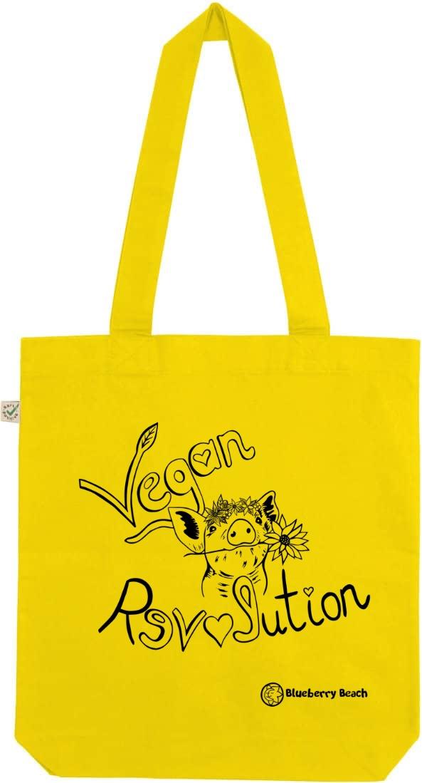 Vegan revolution pig with flowercrown screen print