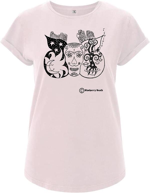 Sugar skull light Rosa t-shirt
