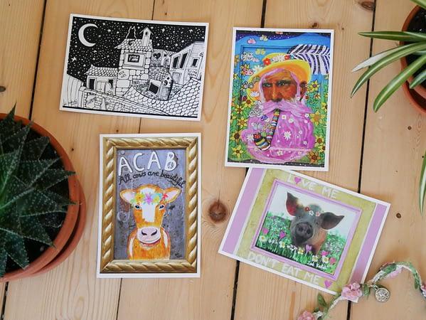 Vegan revolution Postkarten-Set
