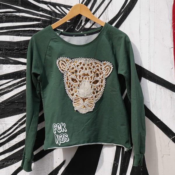 fck nzs dark green sweatshirt