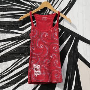 fck nzs red upcycled top