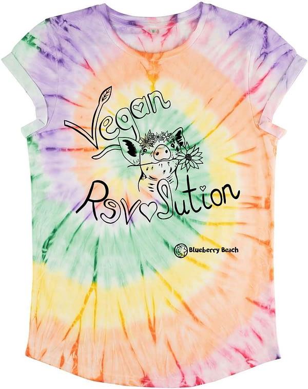 Vegan revolution tie dye t-shirt