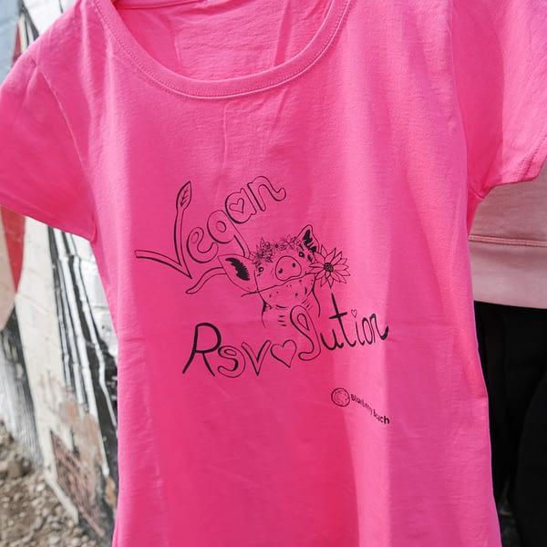 vegan revolution t-shirt close