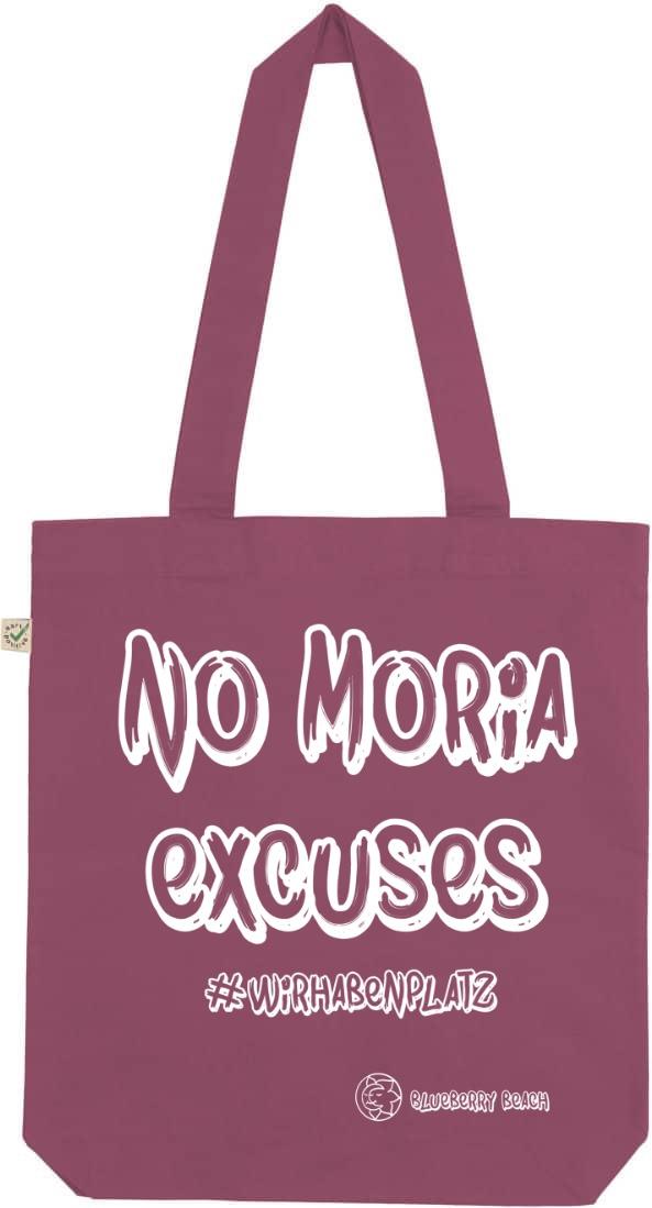 No Moria excuses berry tote bag