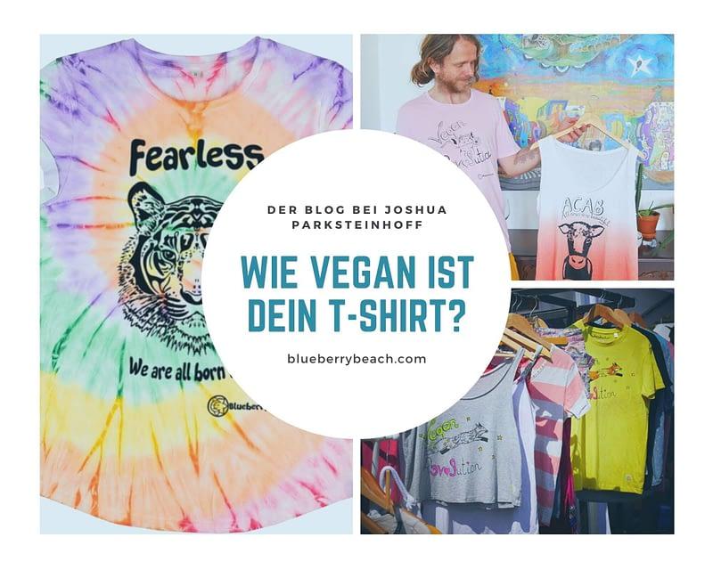 vegan t-shirt, Joshua presenting his vegan blog and sustainable clothing