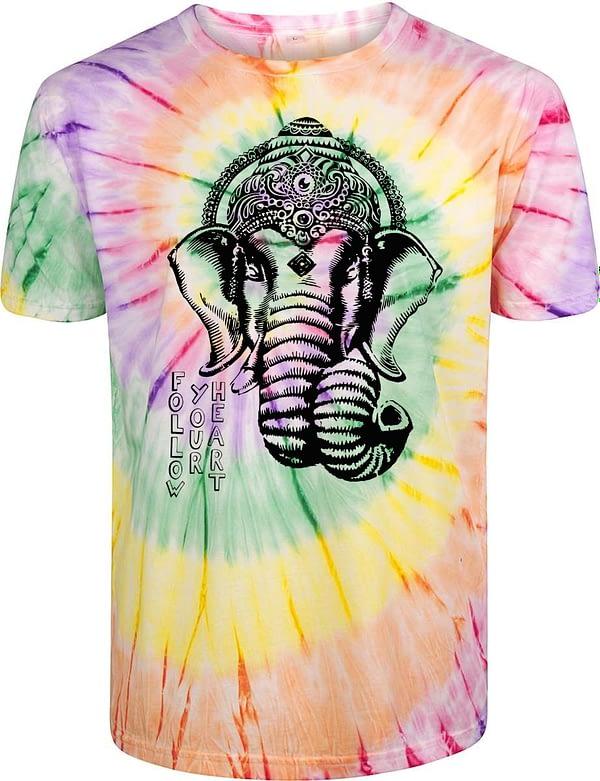 Ganesha tie dye men t-shirt