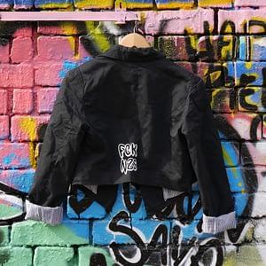 fck nzs upcycled black jacket