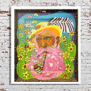 the man with the yellow hat kunstdruck fine art print