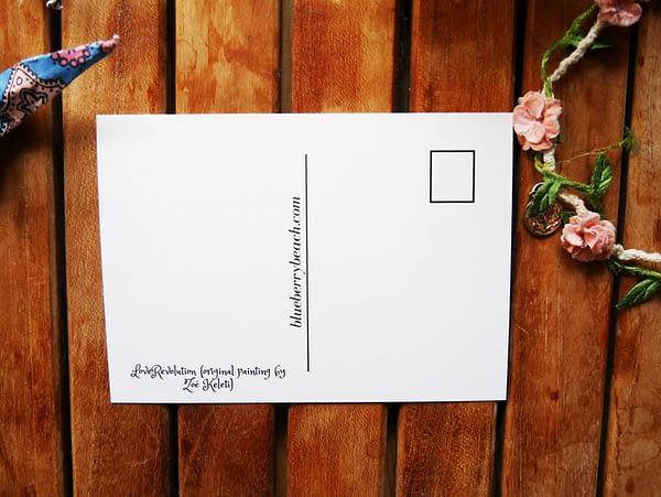 loverevolution postcard back