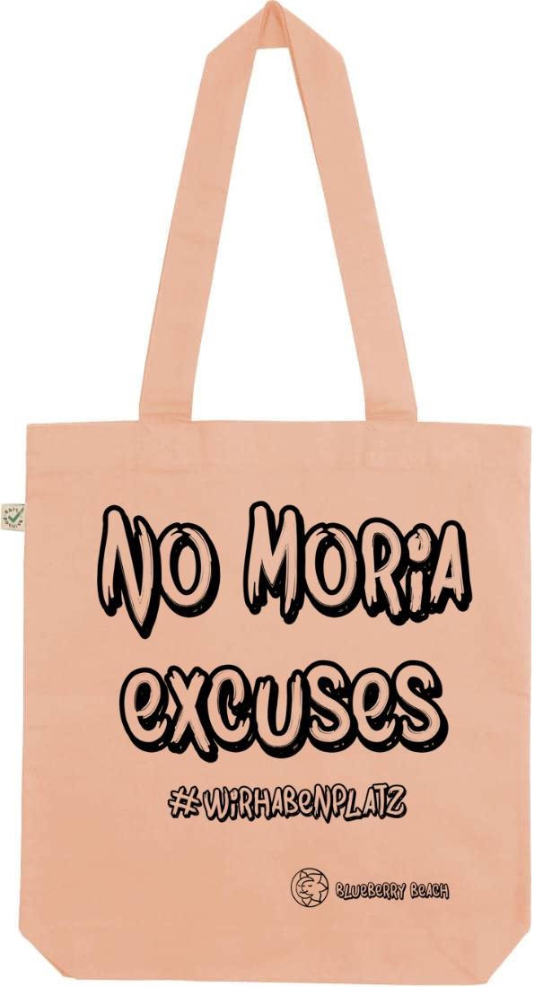 No Moria excuses peach tote bag