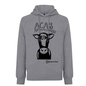 Acab all cows are beautiful screen print hoodie