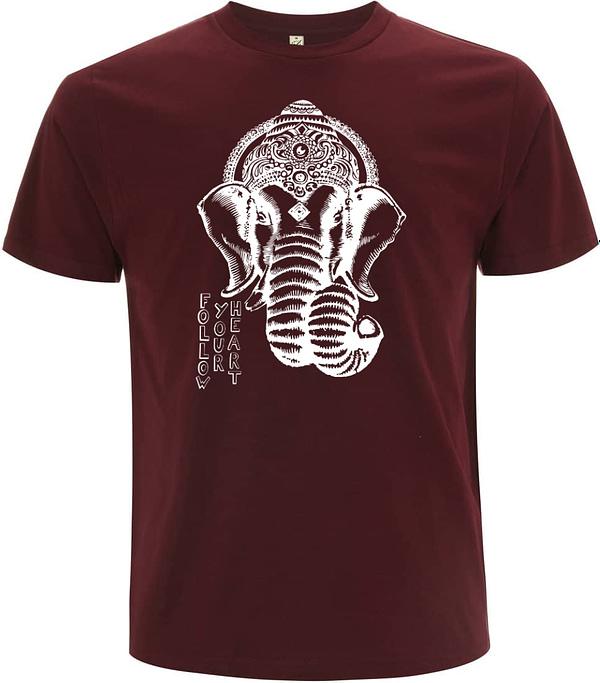 Burgundy Ganesha men t-shirt