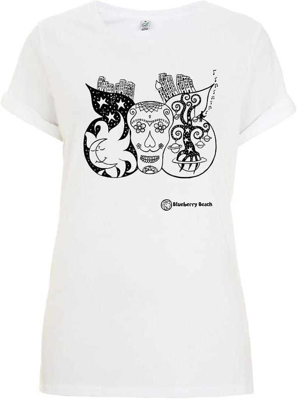White sugar skull t-Shirt women