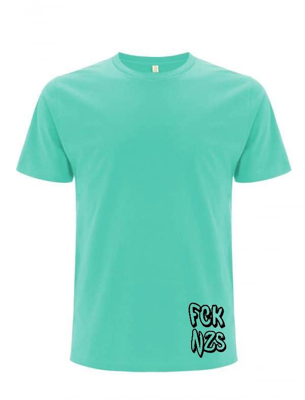 FCK nzs mint organic men t-shirt