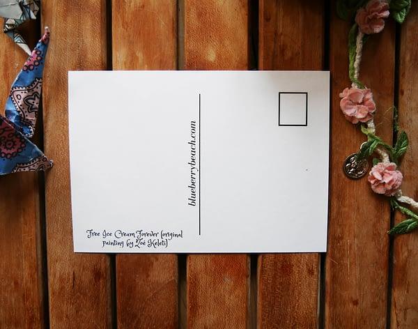postcard back bamboo paper