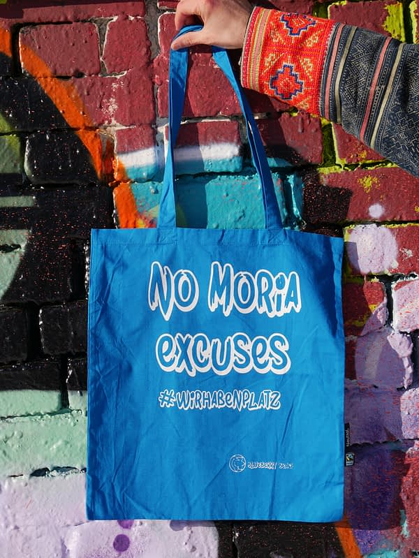 no moria excuses organic cotton tote bag