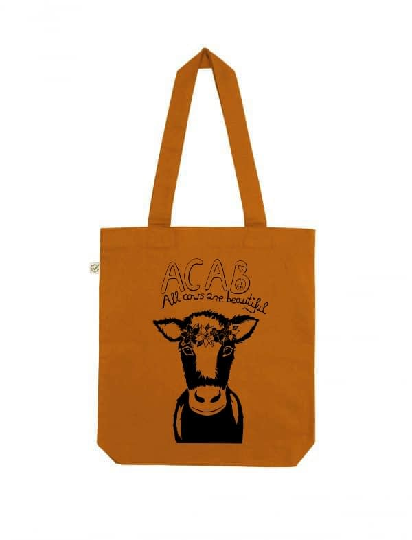 Acab all cows are beautiful cinnamon tote bag