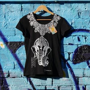 follow your heart black upcycled t-shirt
