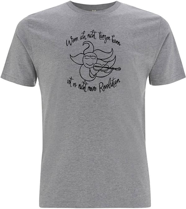 Grey sun plays violin t-shirt