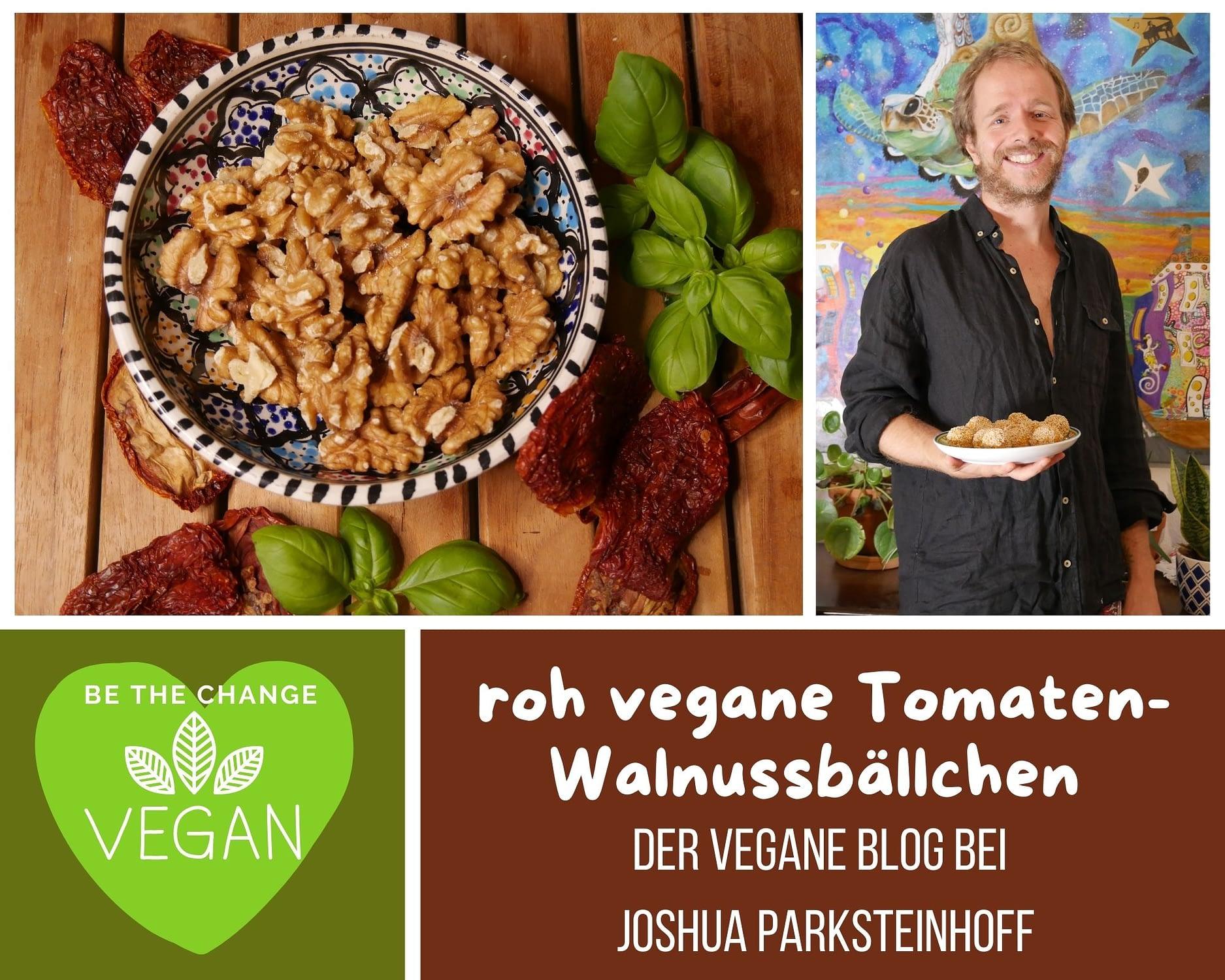 roh vegane Tomaten Walnussbällchen