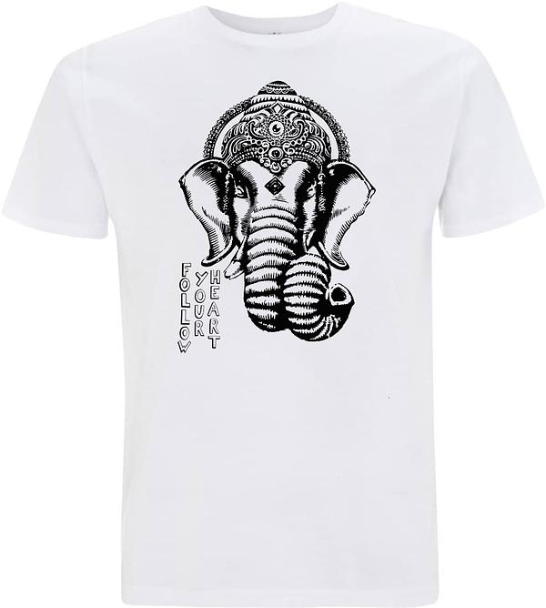 White Ganesha men t-shirt