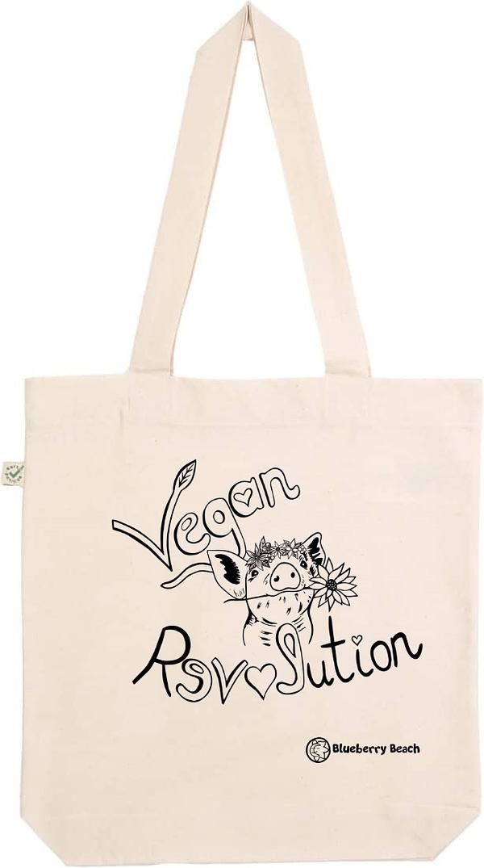 Vegan Revolution natural tote bag