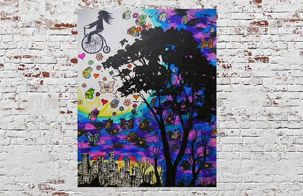 life is a dream original painting by Zoé keleti