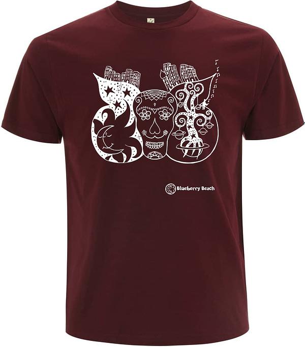 Sugar skull organic men t-shirt