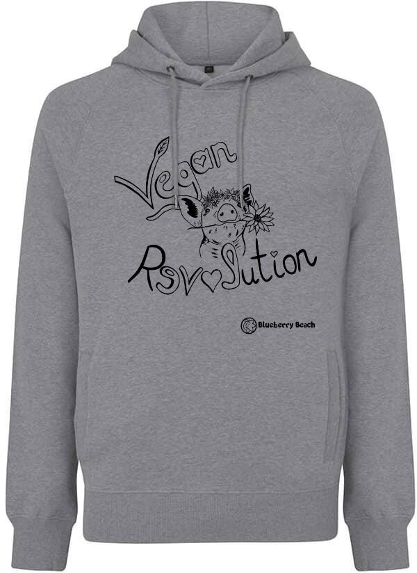 Vegan revolution unisex organic hoodie