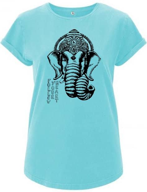 Blue Ganesha organic t-Shirt women