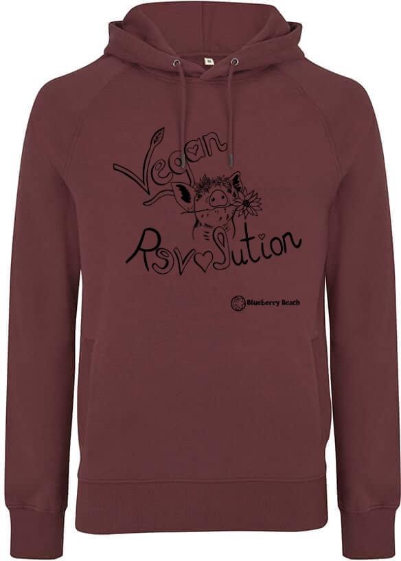 Vegan revolution men unisex hoodie