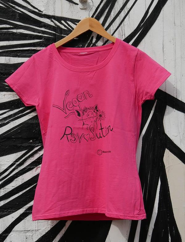 vegan revolution pink t-shirt